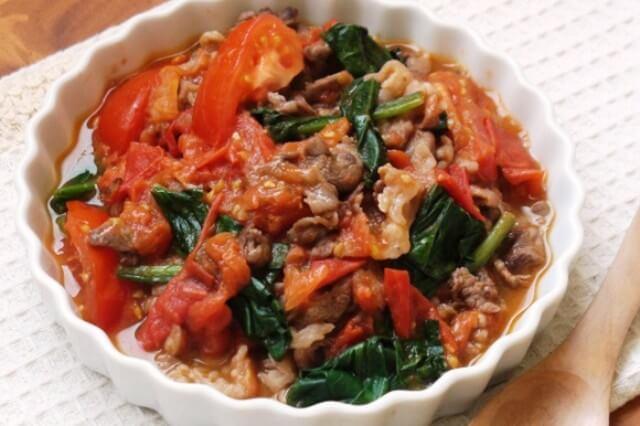 牛肉とトマト炒め