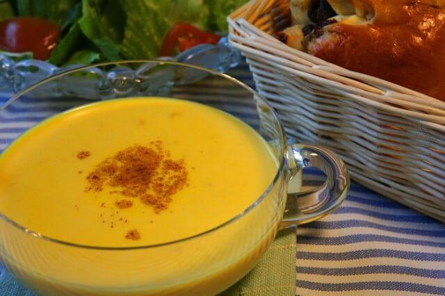 かぼちゃと豆乳のスープ