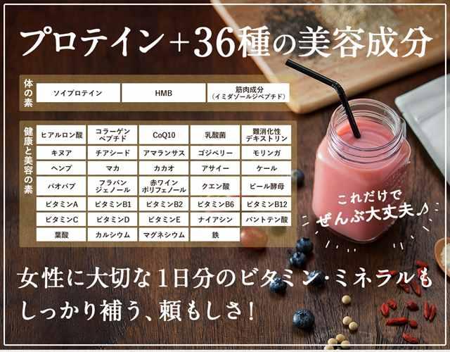 プロテイン+36種の美容成分